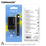 СЗУ 2in1-m TORNADO TD-14 black (1USB 2.1A) microUSB