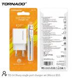 СЗУ 2in1-m TORNADO TD-14 white (1USB 2.1A) microUSB