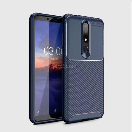 Накладка CARBON Xiaomi Note 10 blue