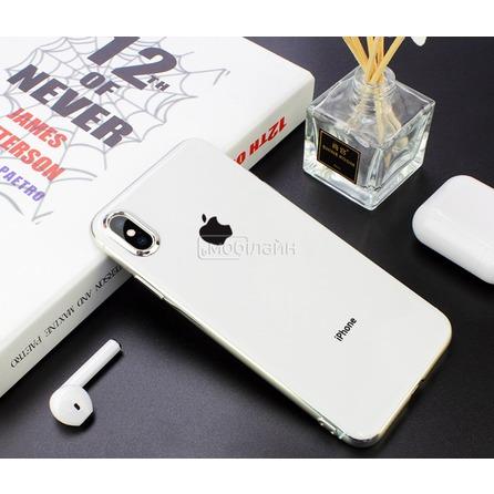 Cиликон GLASS LOGO iPhone XS Max white