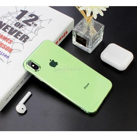 Cиликон GLASS LOGO iPhone XS Max mint&gum