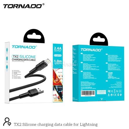 USB-L TORNADO TX2 Silicone (2.4A/1m) Lightning black